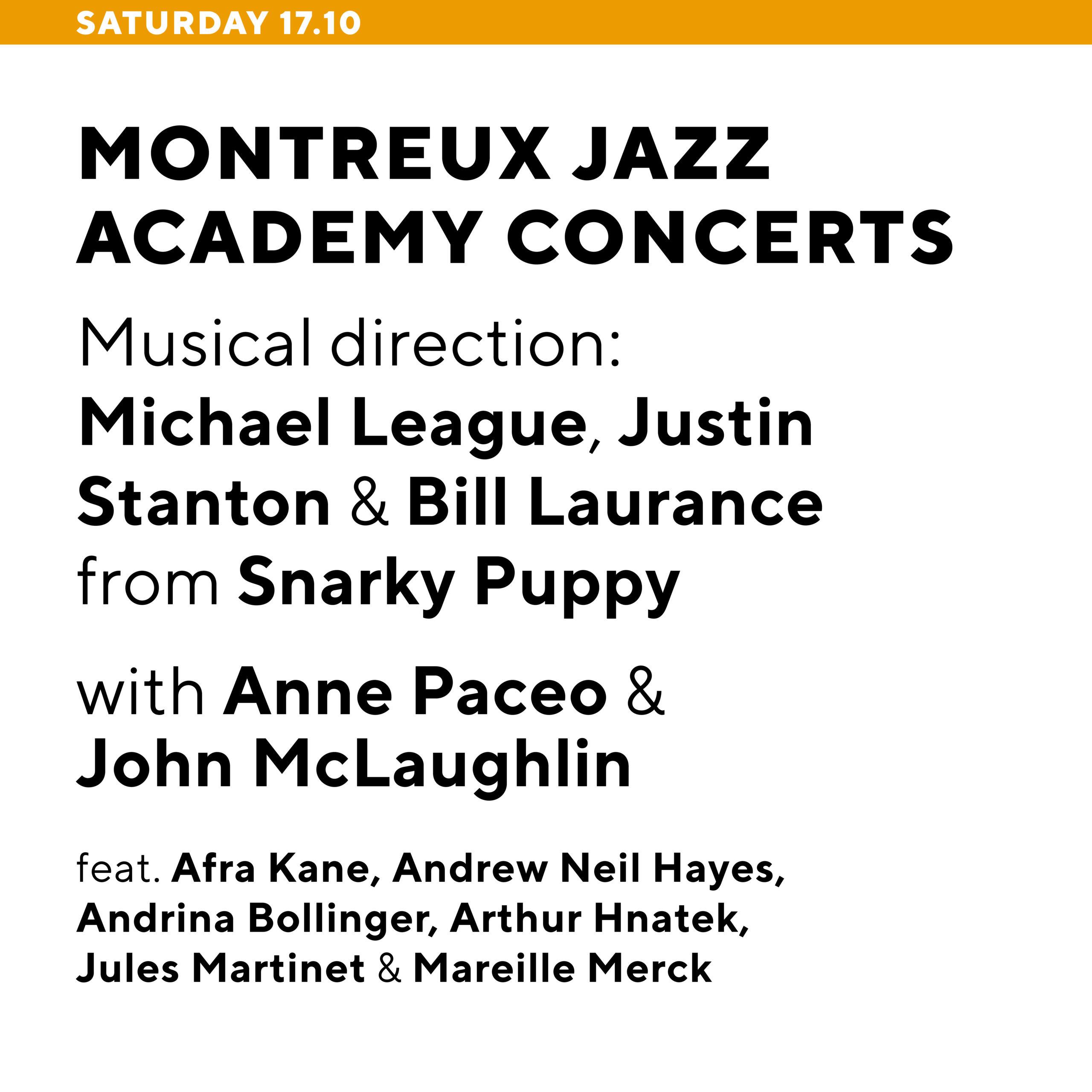 Montreux Jazz Academy concerts
